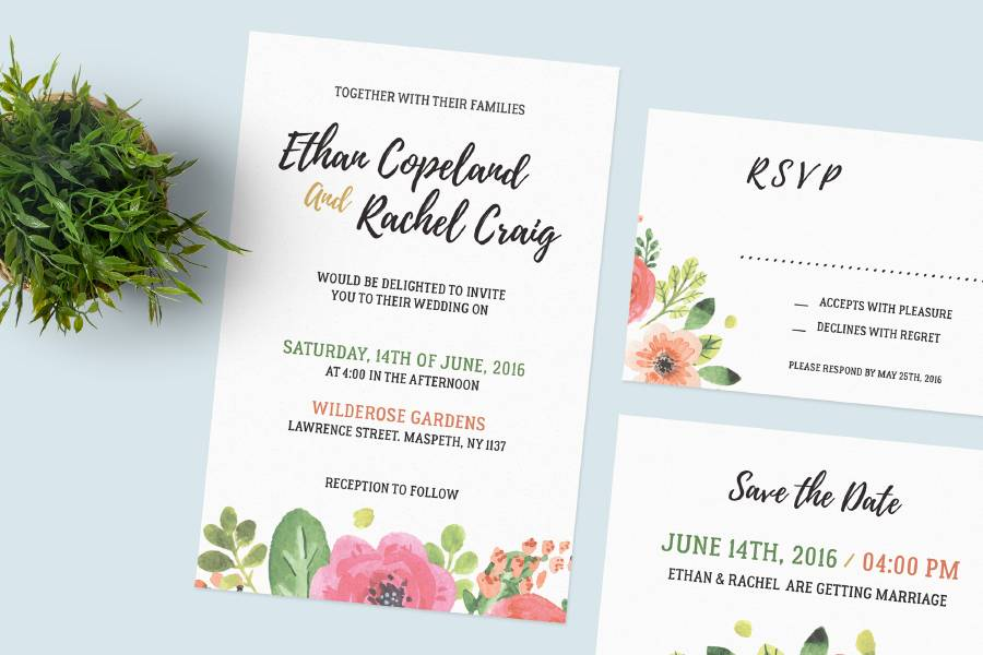 Invitation Templates Free Psd
