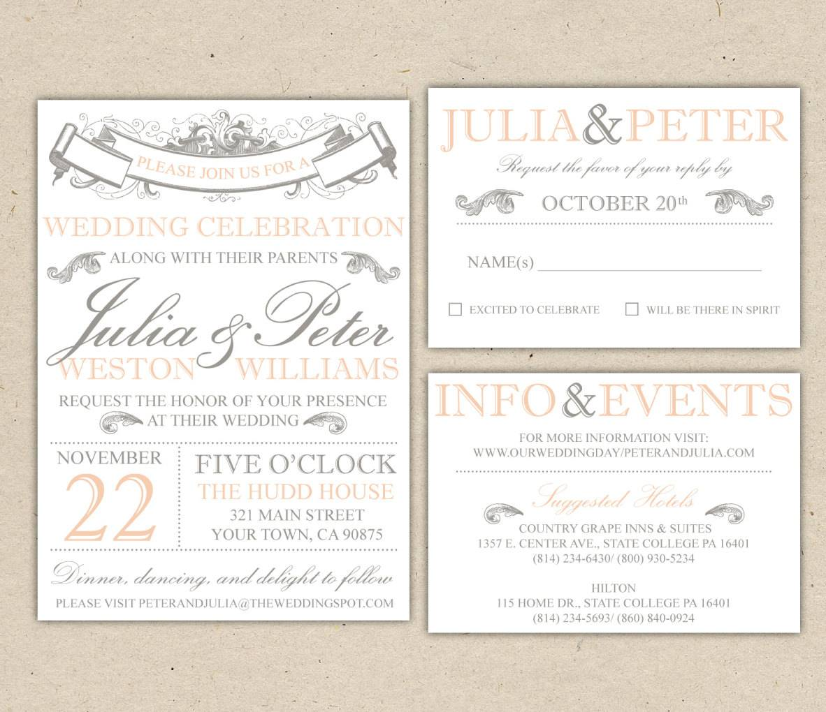 Invitation Templates Free Wedding