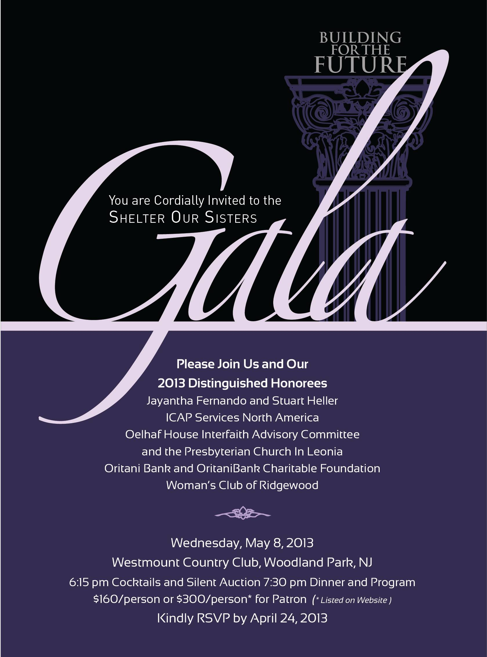 Invitation To Gala Dinner Template