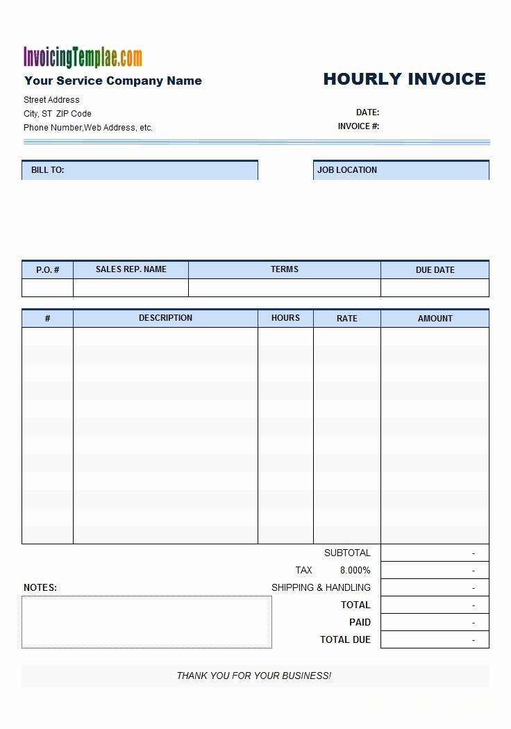 Invoice Bill Template