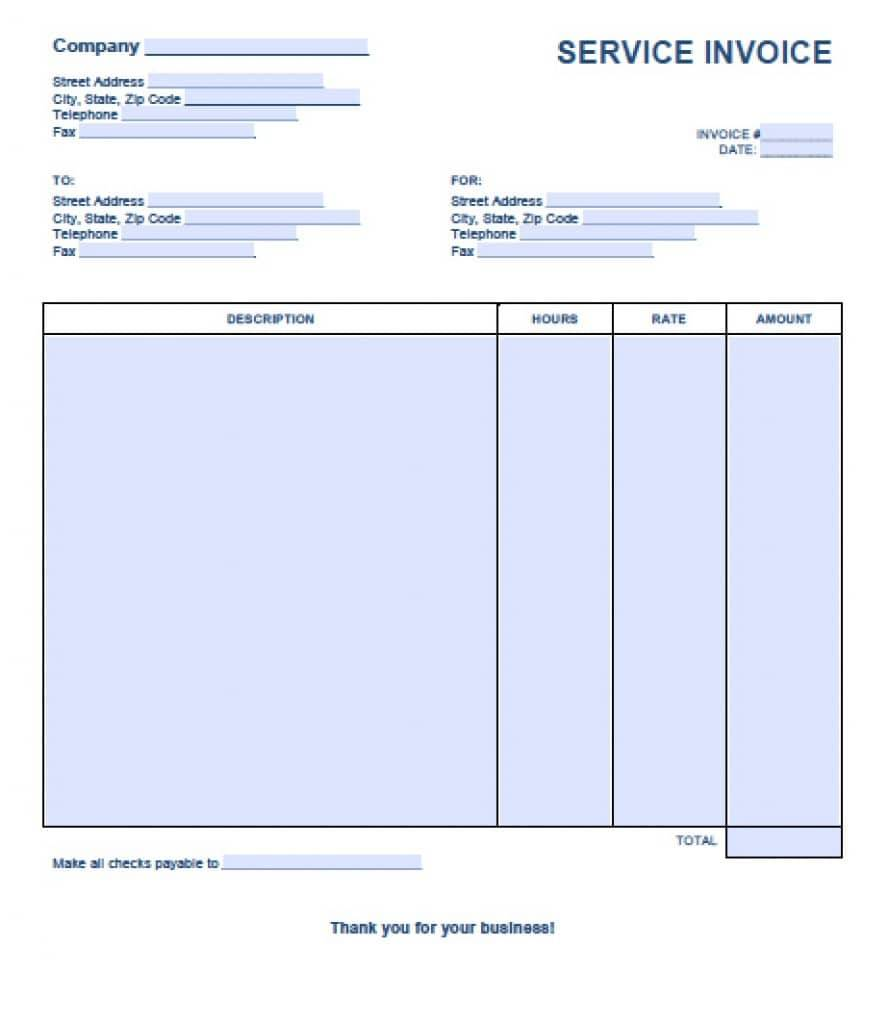 Invoice Document Template Word