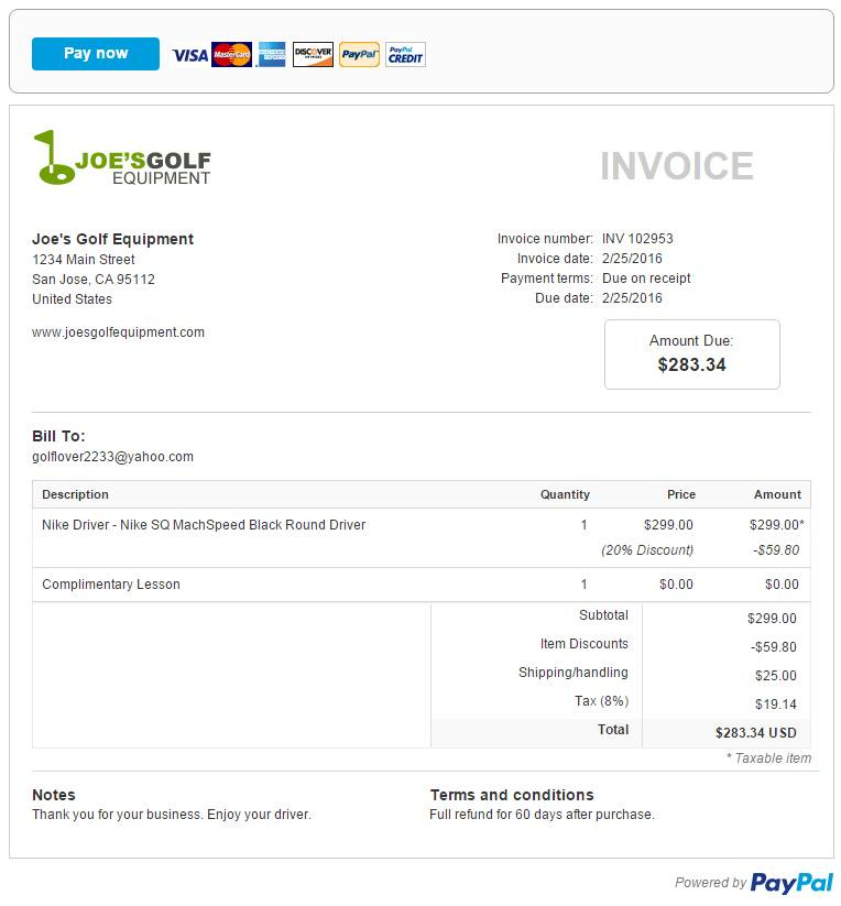 Invoice From Paypal