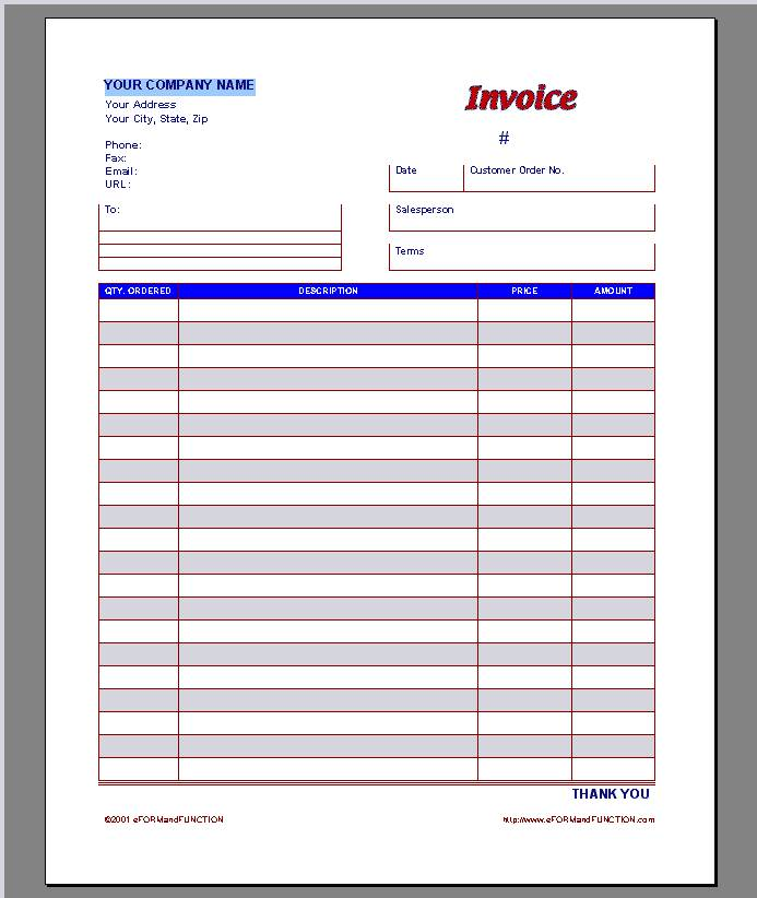Invoice Proposal Template Free