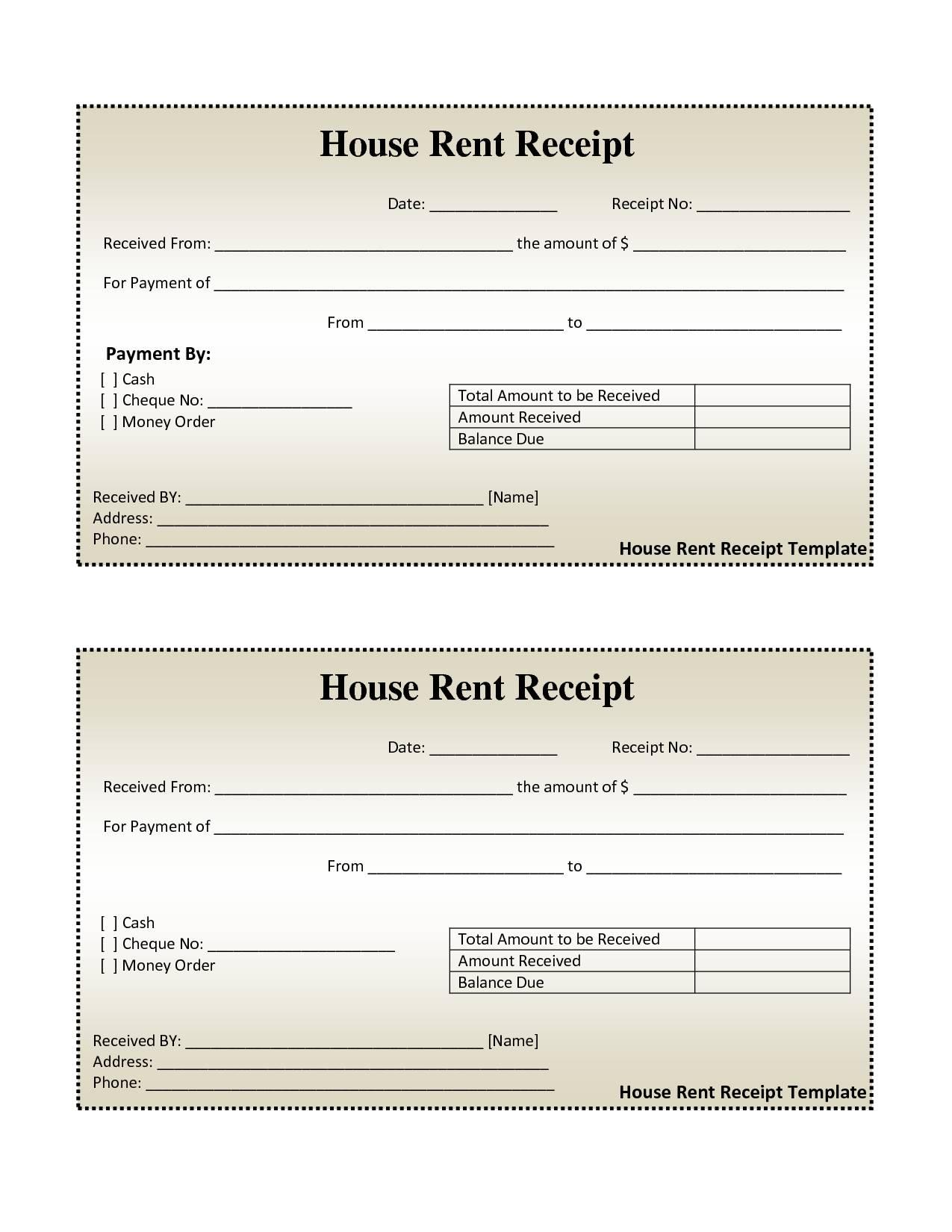Invoice Receipt Template Free
