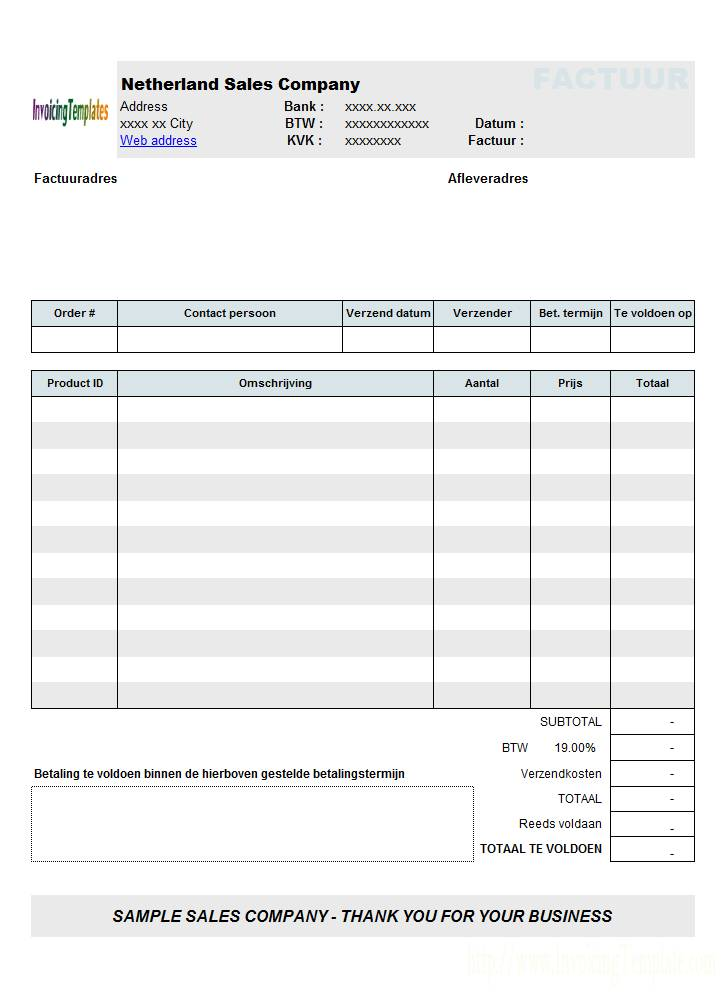 Invoice Template Australia Free