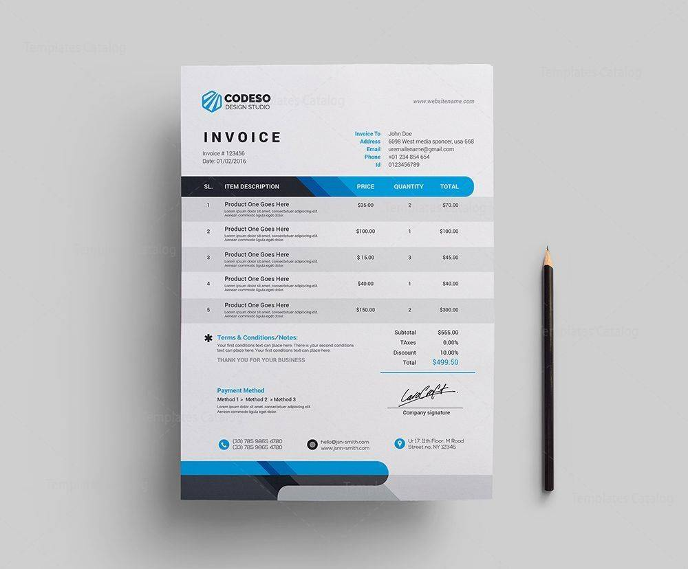 Invoice Template Doc Free Download