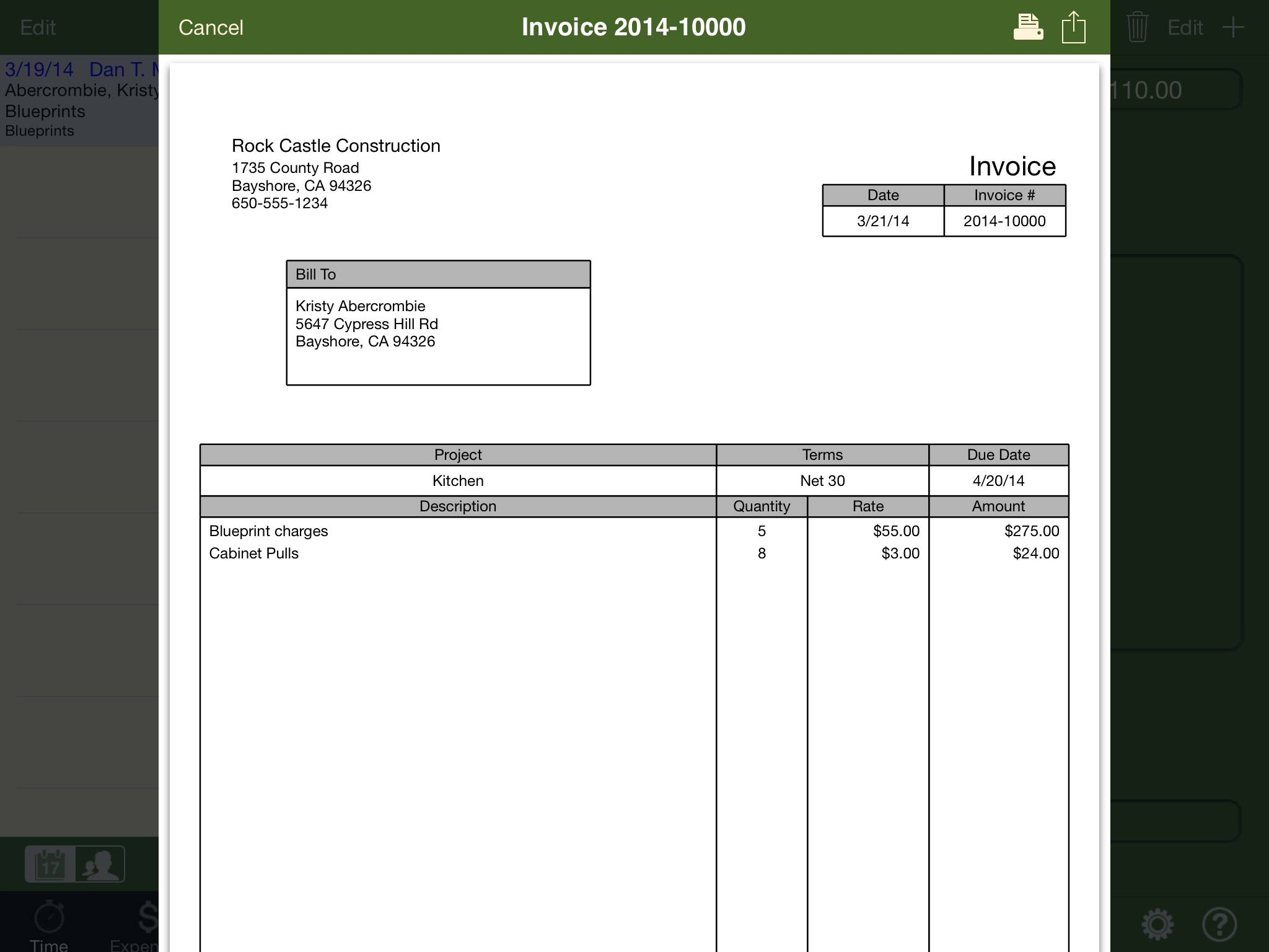 Invoice Template For Ipad Free