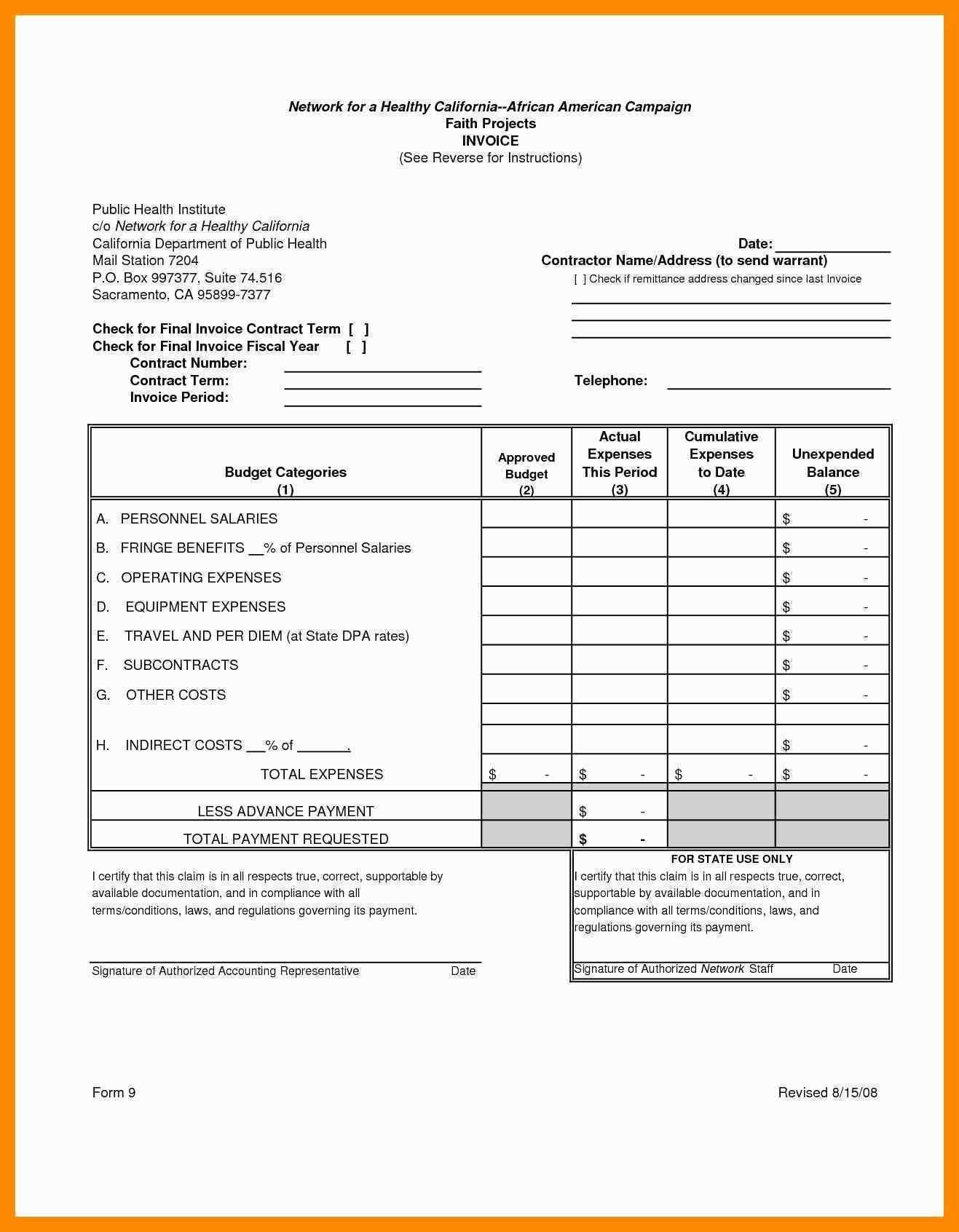 Invoice Template Payment Terms
