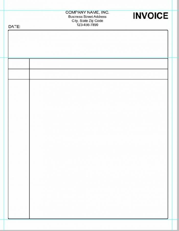 Invoice Template Pdf Editable Free