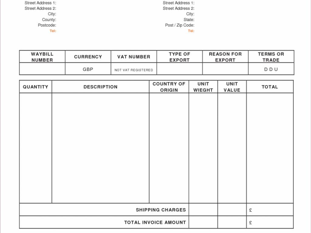 Invoice Template Uk No Vat