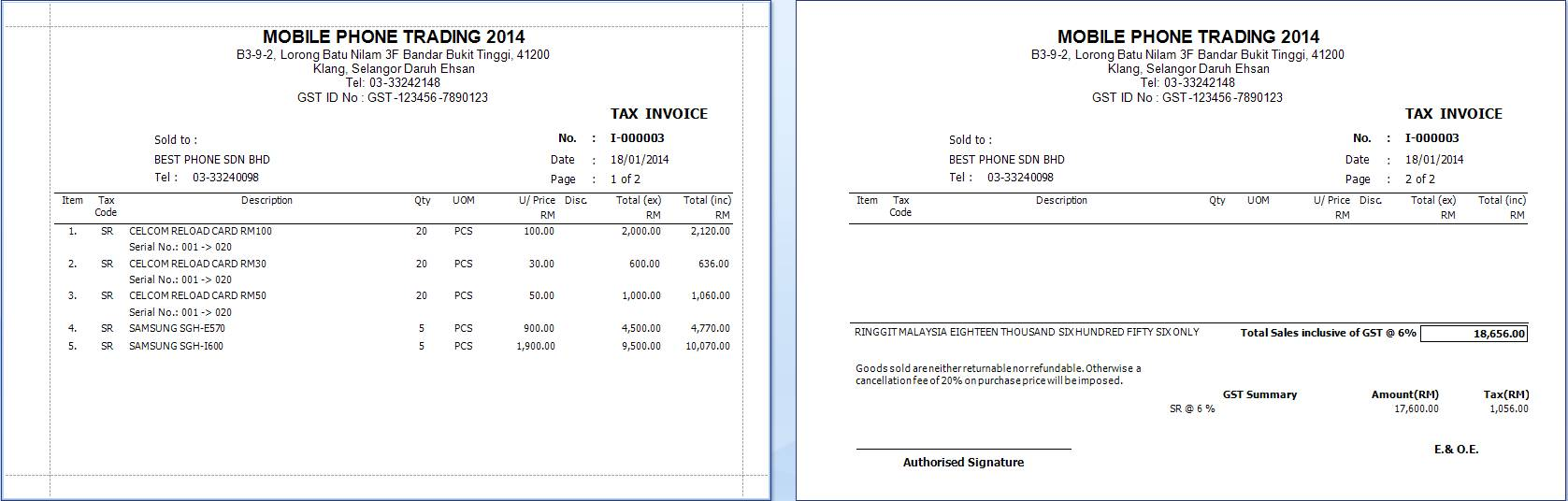 Invoice Templates In Excel Free Excel Download