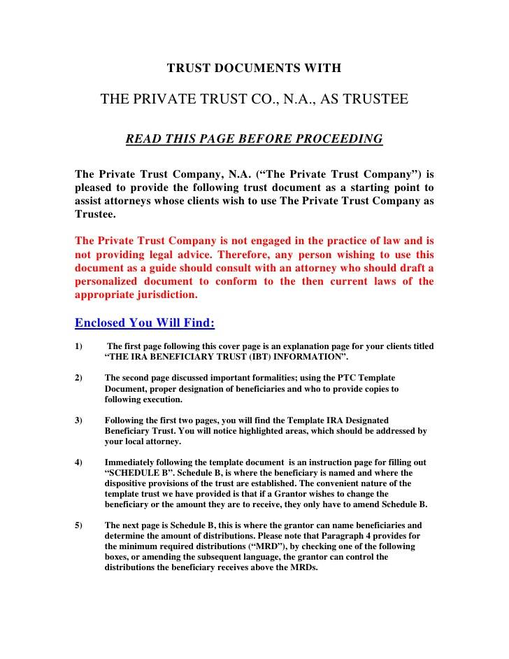 Irrevocable Trust Template Ohio