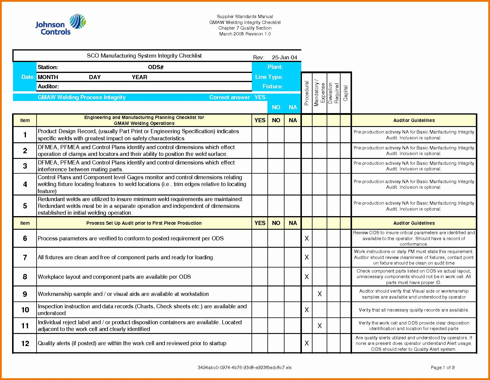 Iso 14001 Audit Report Template