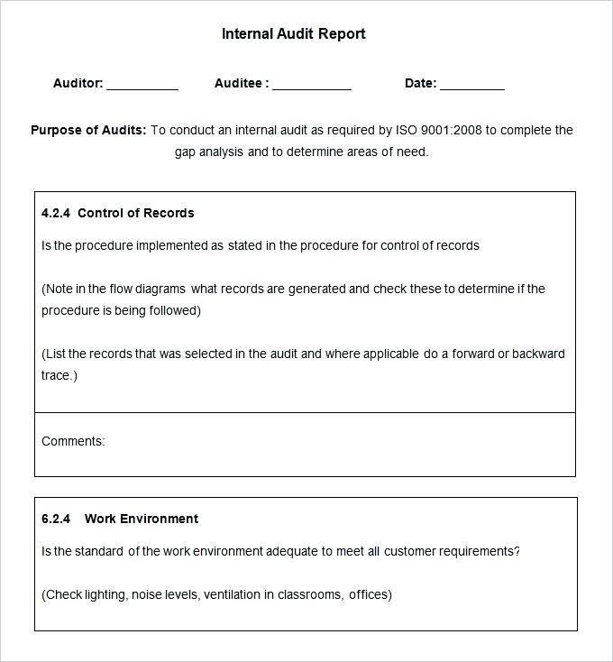 Iso 17025 Audit Schedule Template