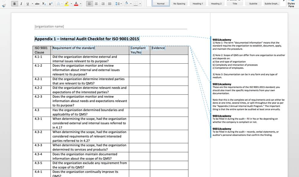 Iso 20000 Audit Plan Template