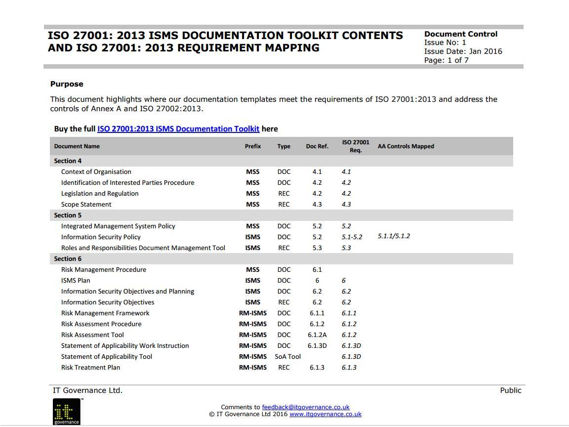 Iso 27001 Risk Assessment Document