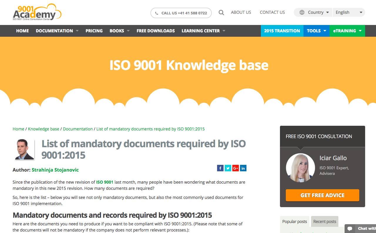 Iso 9001 Documents