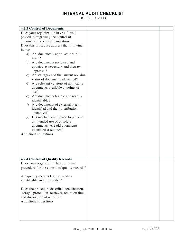 Iso Audit Plan Example