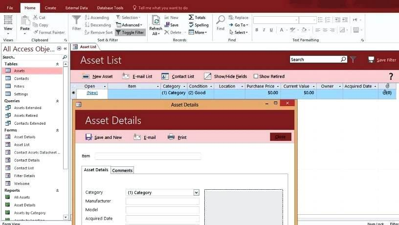 It Asset Management Database Template