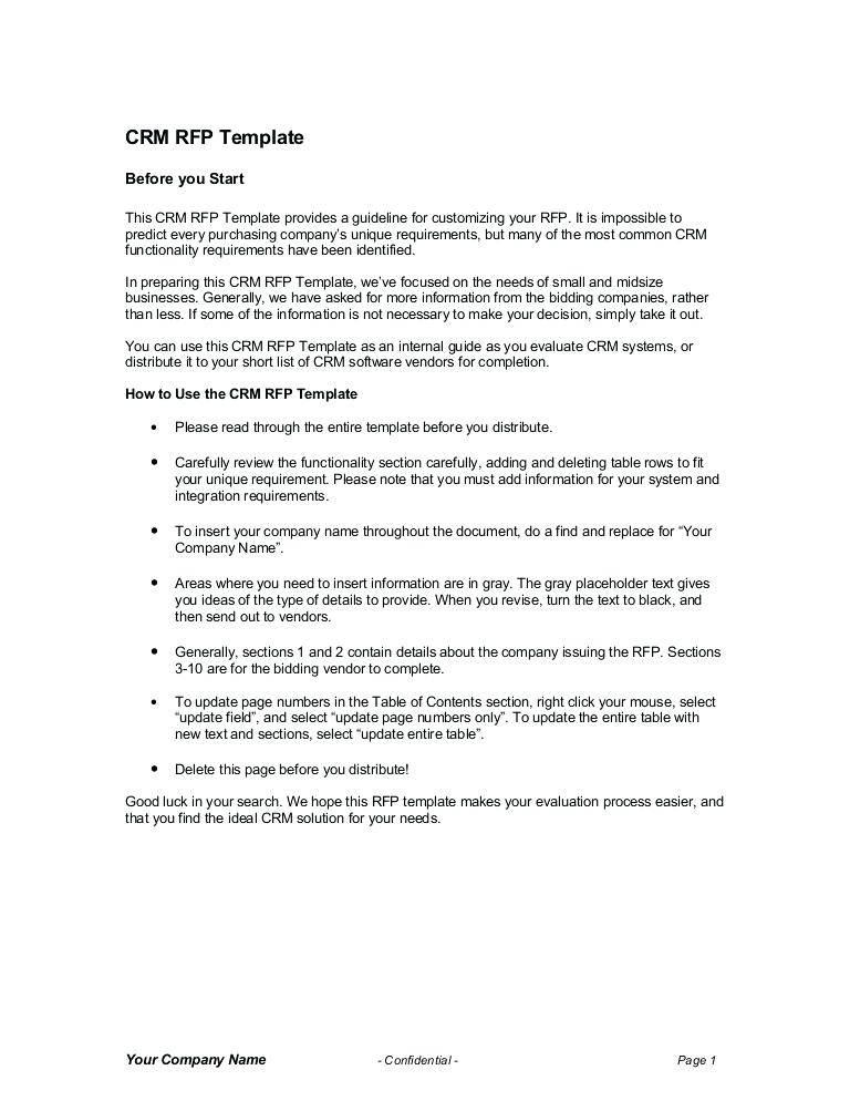 It Consulting Rfp Template