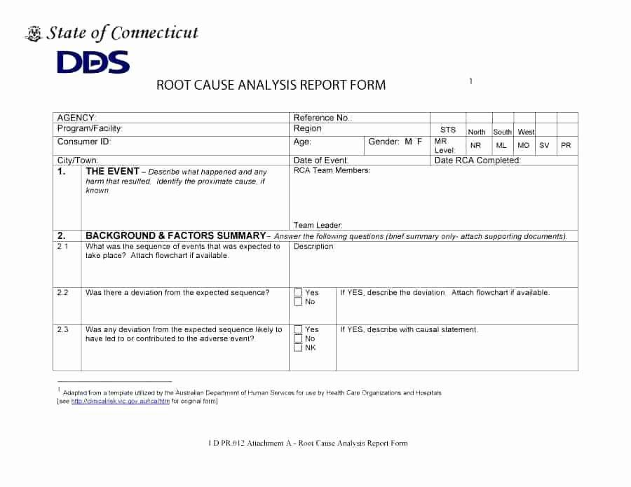 Itil Root Cause Analysis Template