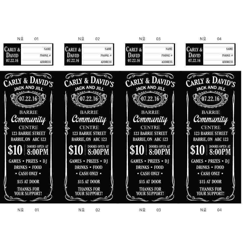 Jack And Jill Tickets Templates
