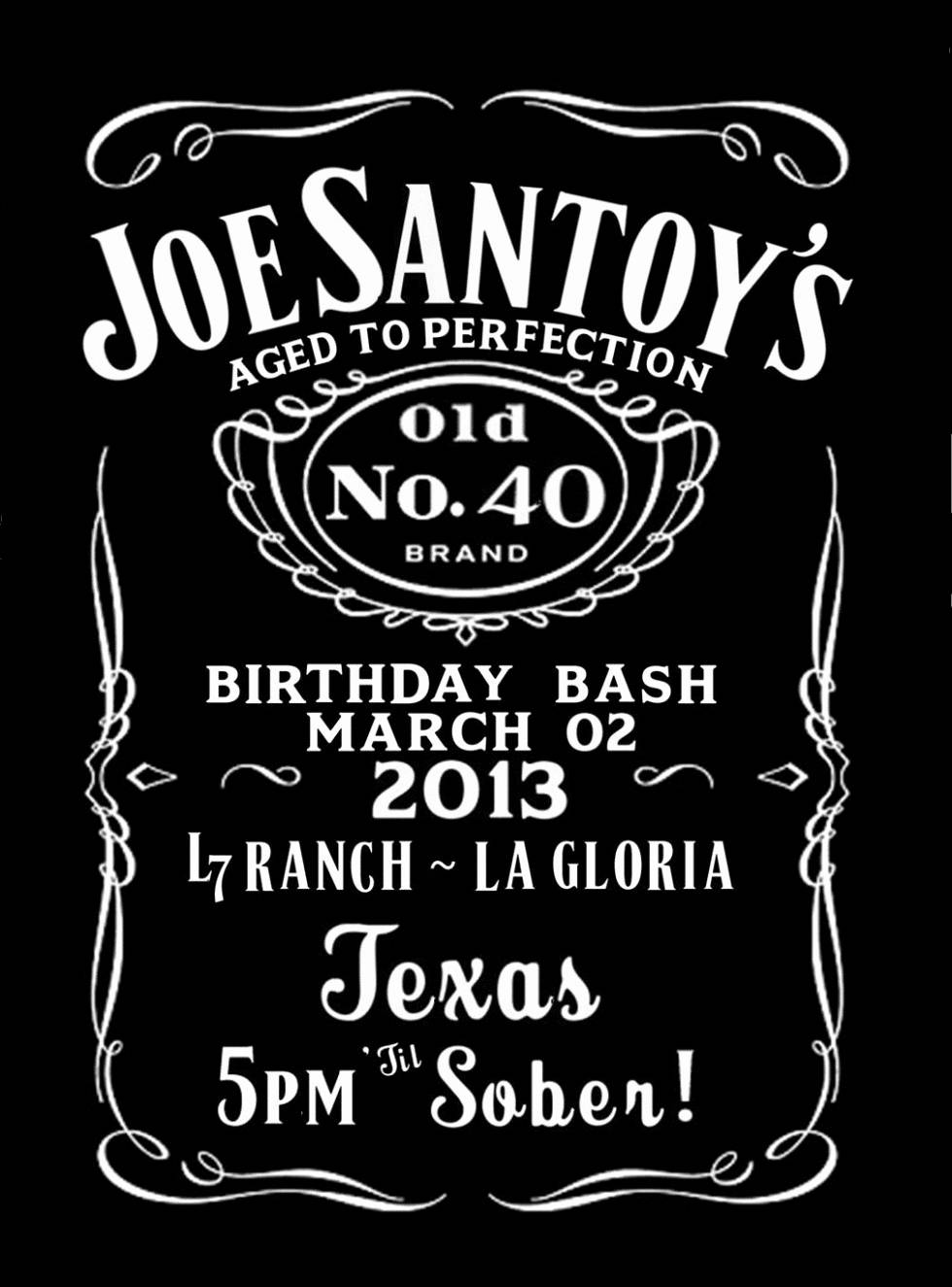Jack Daniels Invitation Template Download