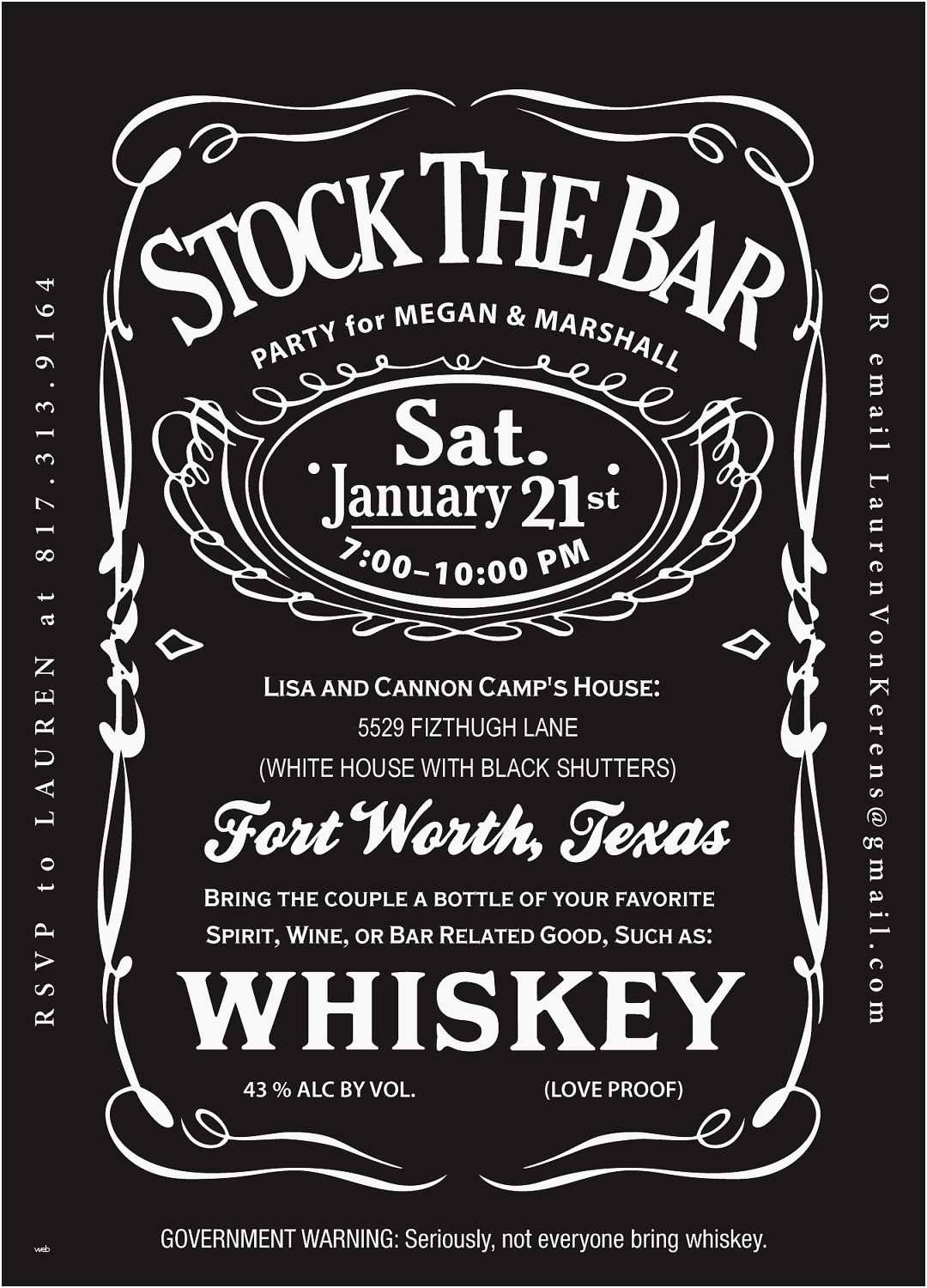 Jack Daniels Party Invitation Template
