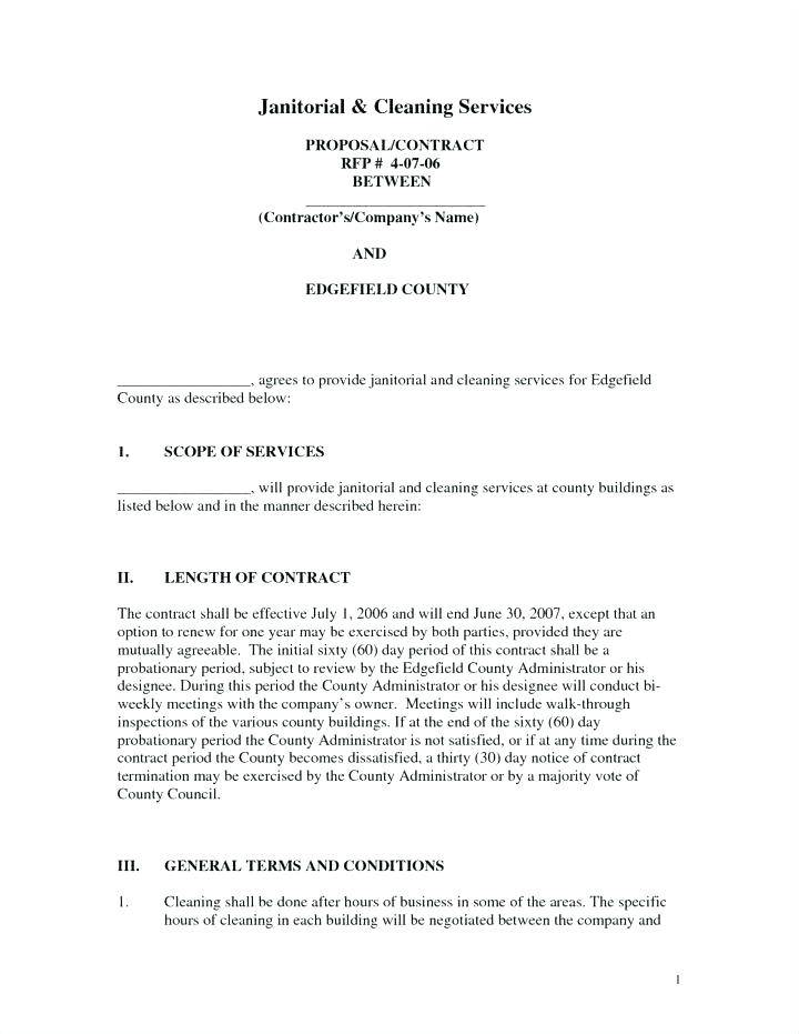 Janitorial Contract Proposal Template