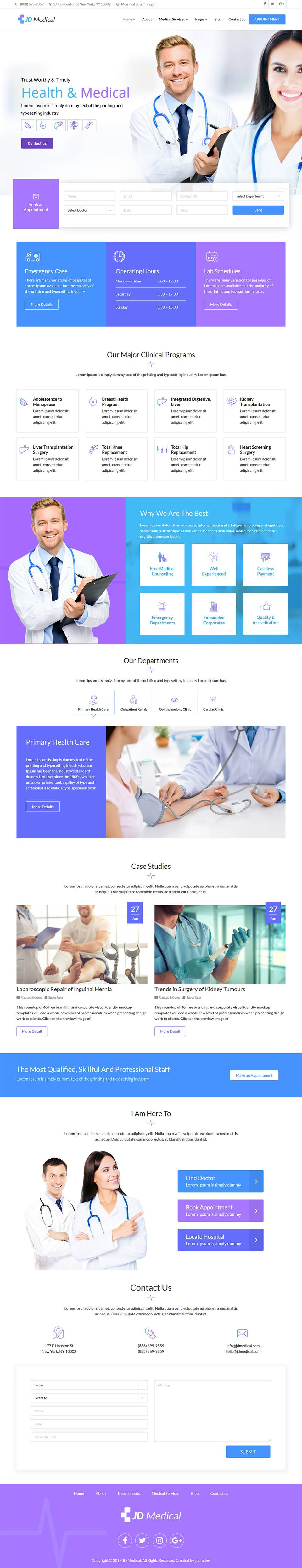 Jd Medical Joomla Template