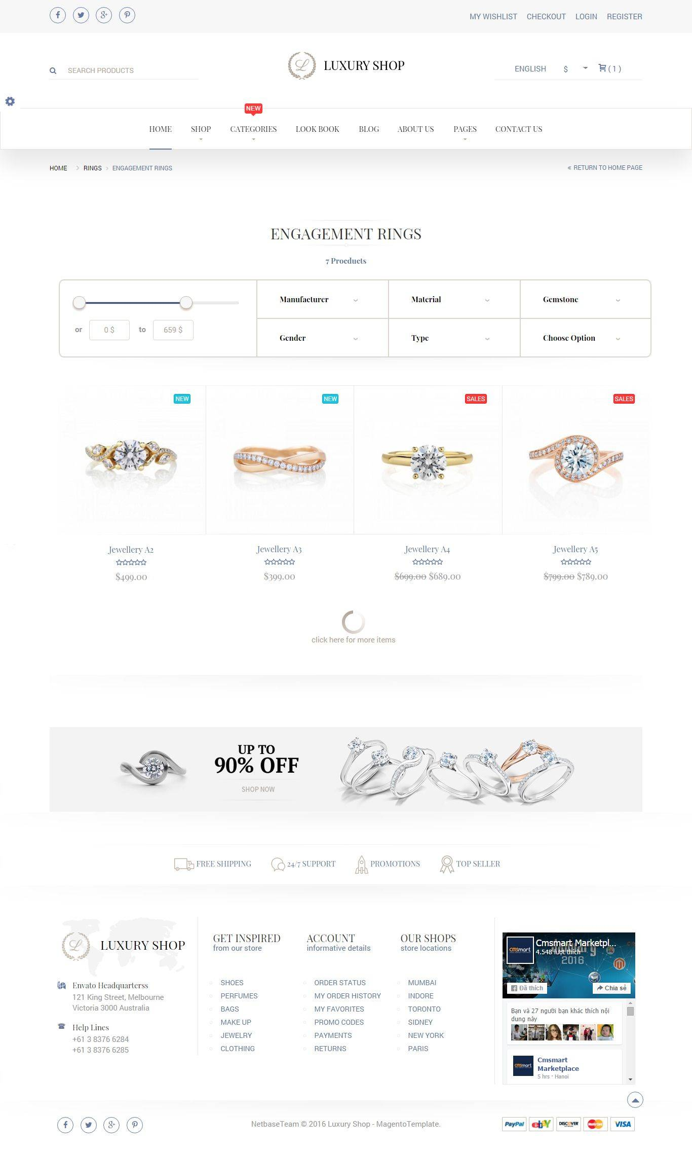 Jewellery Magento Responsive Template