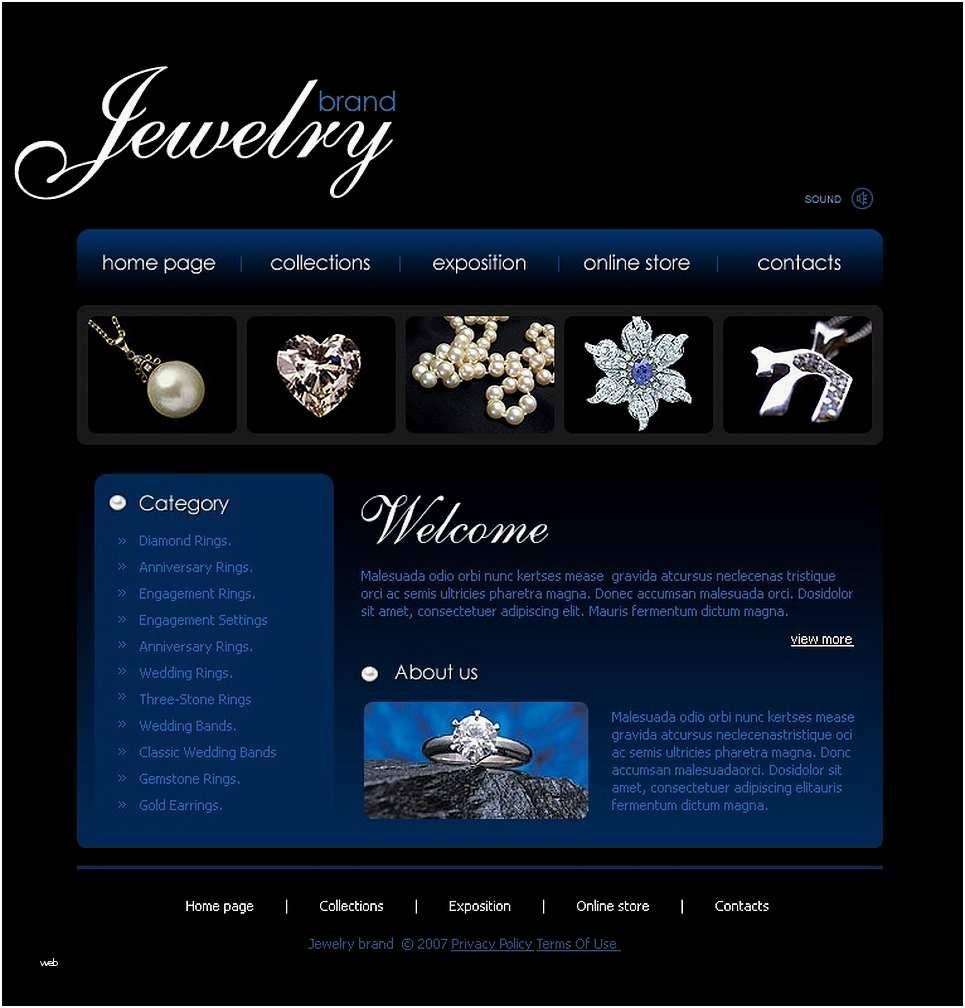 Jewellery Shop Website Templates Free Download