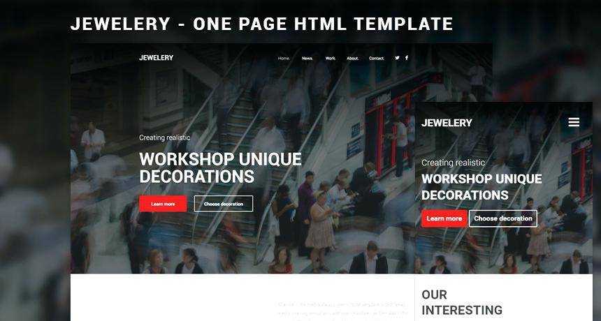 Jewellery Website Templates Bootstrap