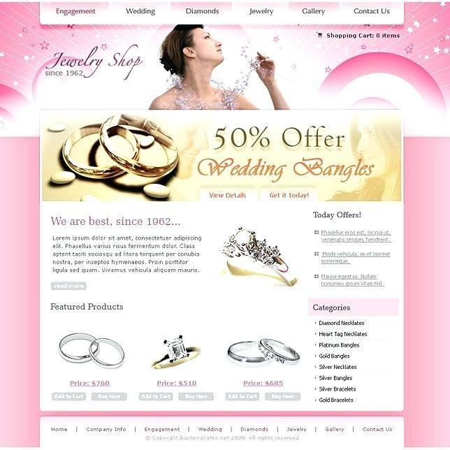 Jewellery Website Templates Download
