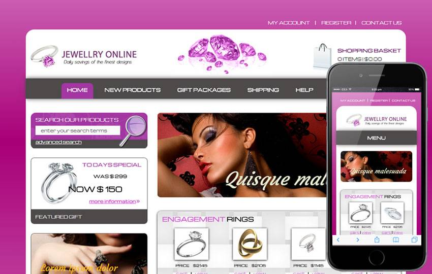 Jewellery Website Templates Free Download