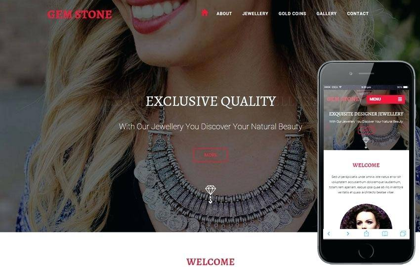 Jewellery Website Templates Html5 Free Download