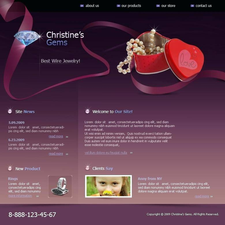 Jewellery Website Templates Psd Free Download
