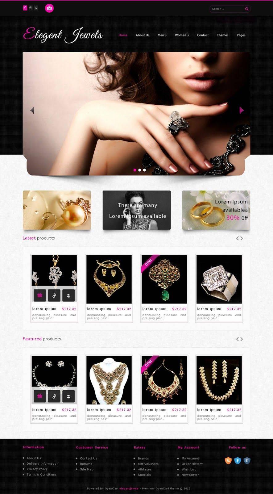 Jewellery Website Templates Psd