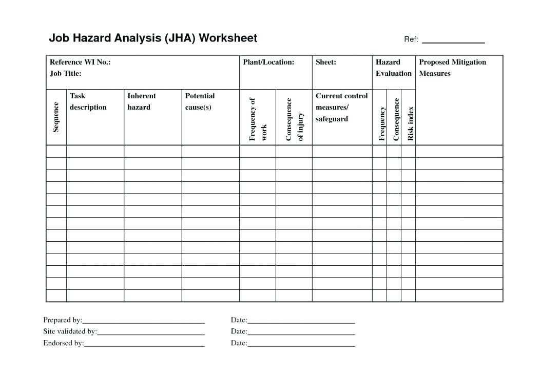 Jha Form Template