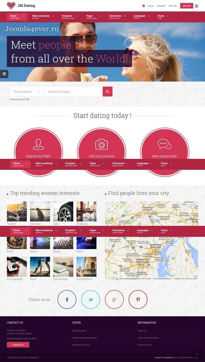 Jm Dating Joomla Template