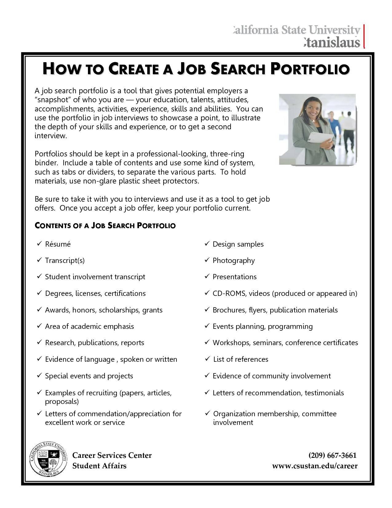 Job Interview Portfolio Template