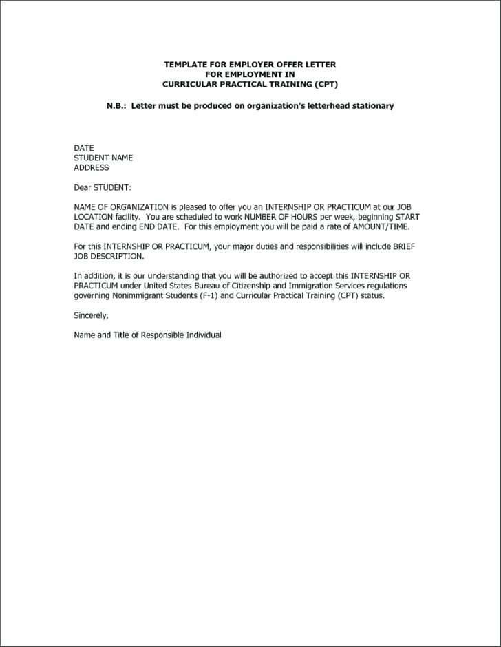 Job Offer Letter Template Free