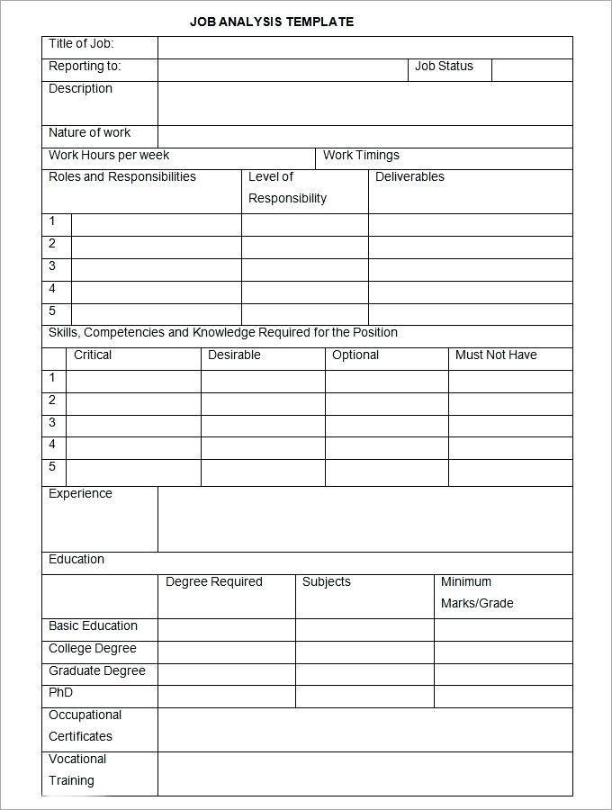 Job Safety Analysis Format