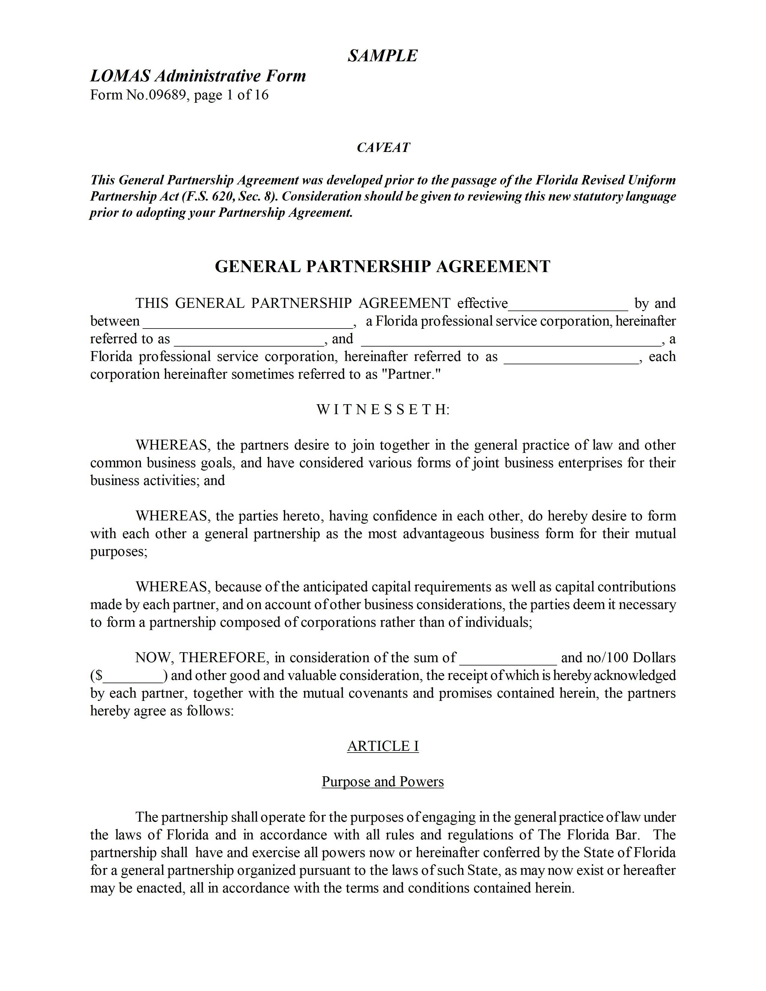 Joint Venture Agreement Template California