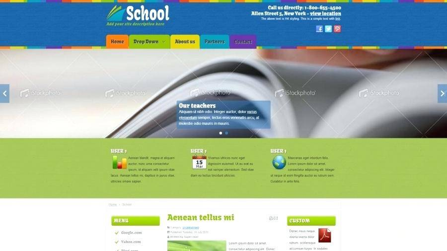 Joomla 3 Education Templates