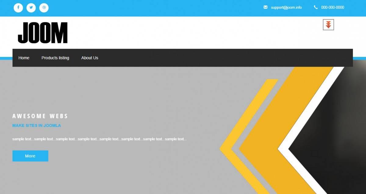 Joomla 3.7 Responsive Templates Free
