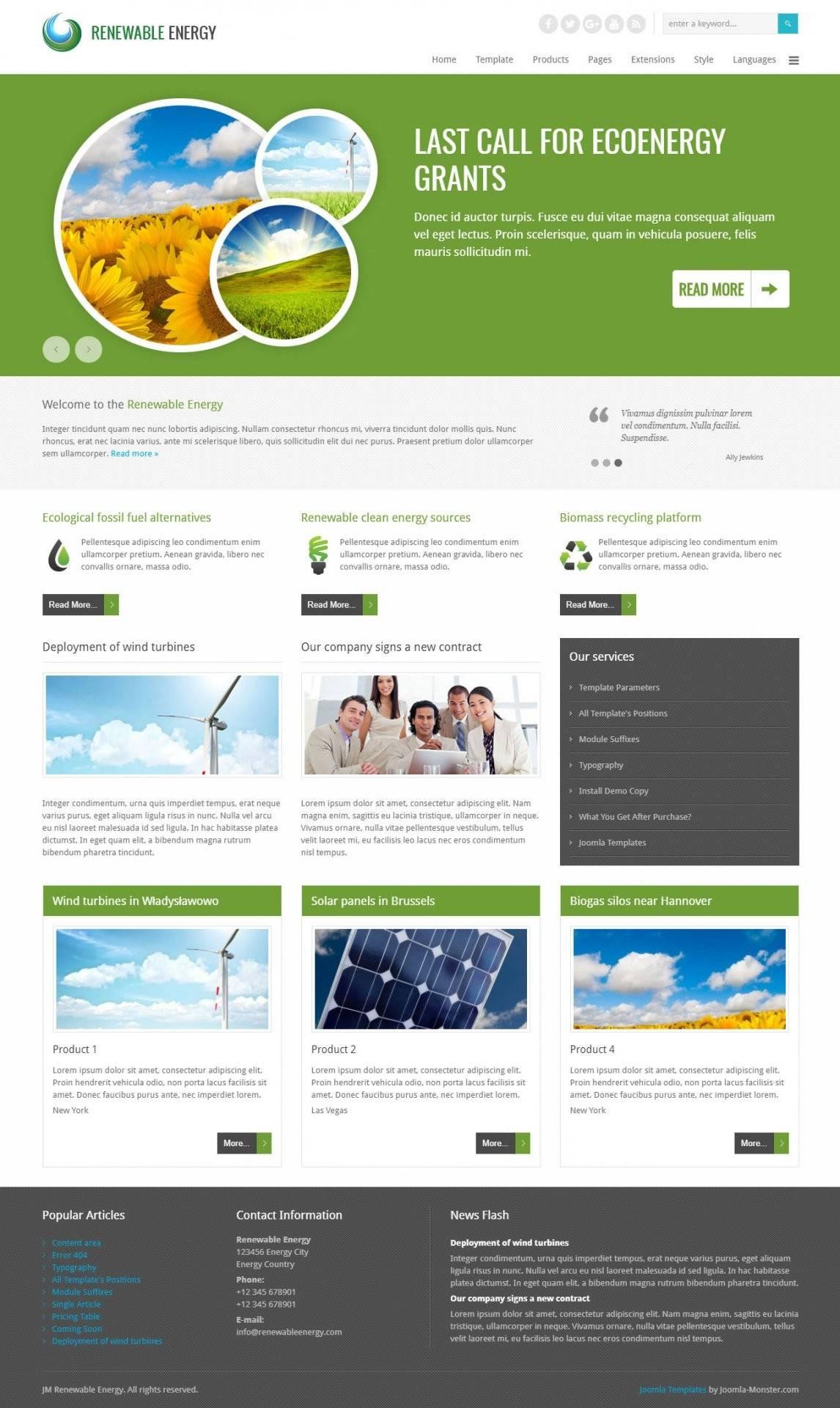Joomla Business Directory Template