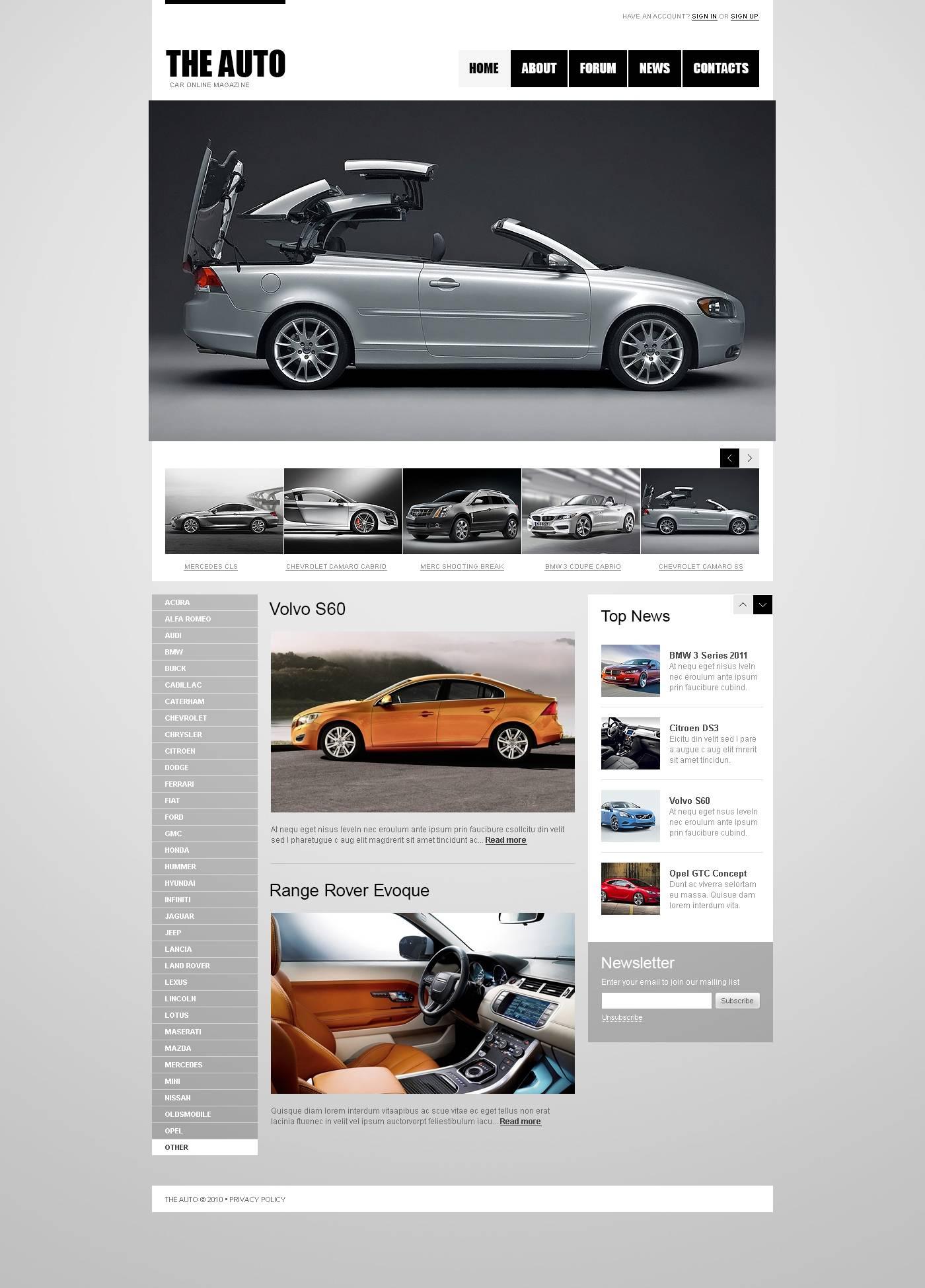 Joomla Car Club Template