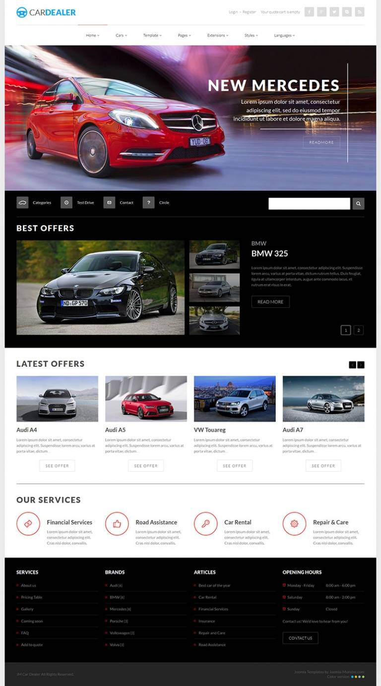Joomla Car Dealer Templates