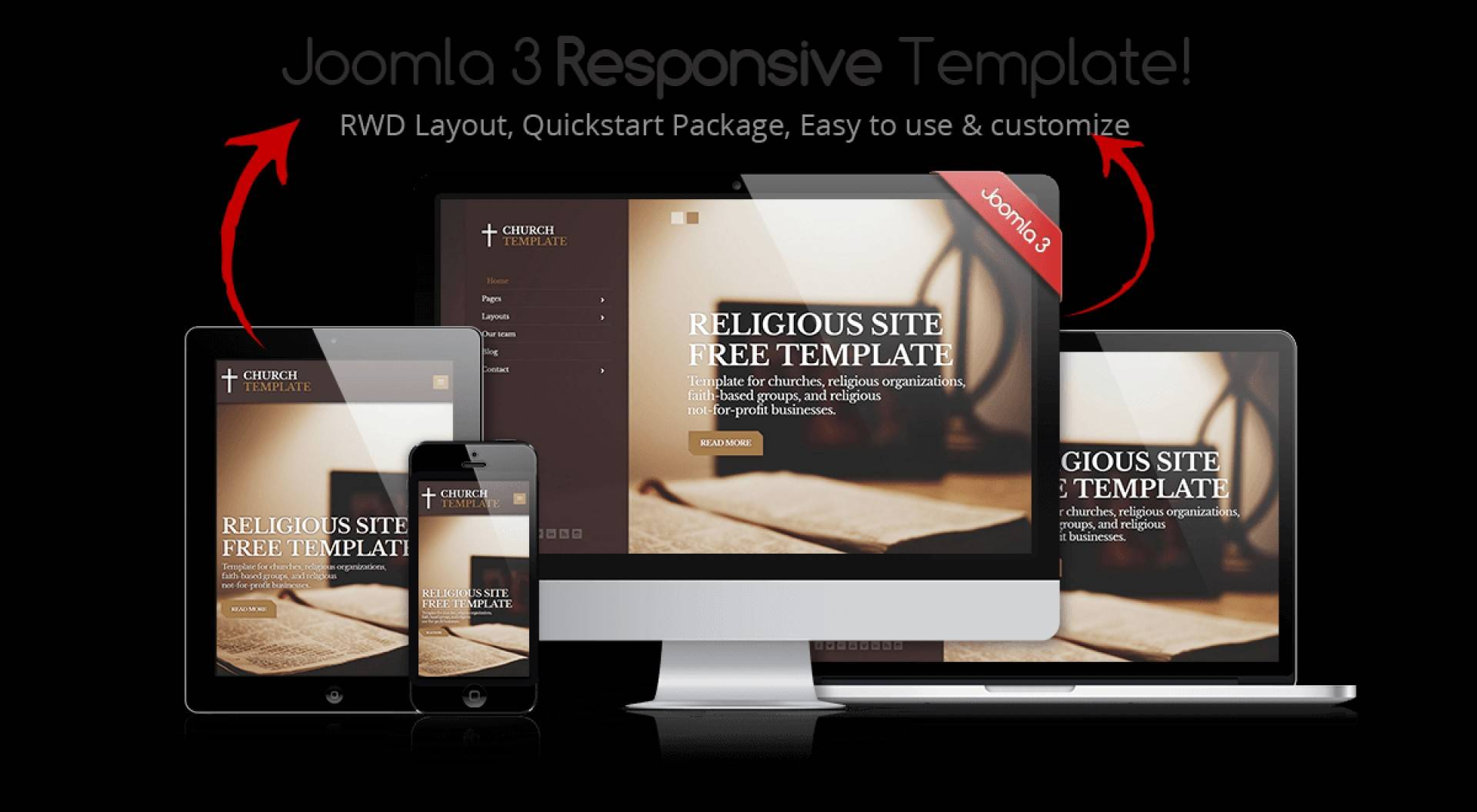 Joomla Church Responsive Template